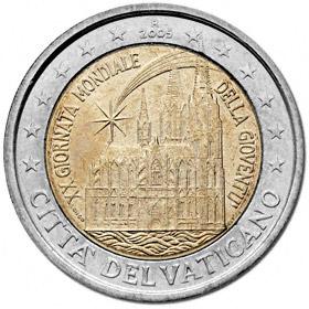 2 Euro Vatikan 2005 Weltjugendtag In Köln